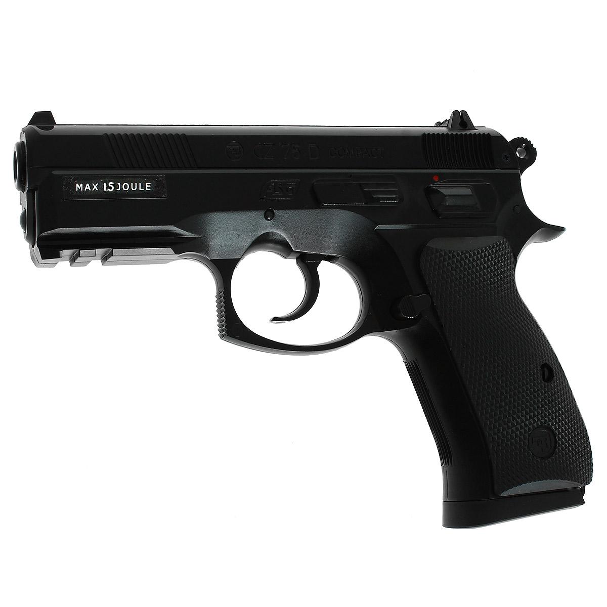 """ASG ASG """"CZ 75D Compact"""" пистолет страйкбольный, CO2, 6 мм (15564)"""