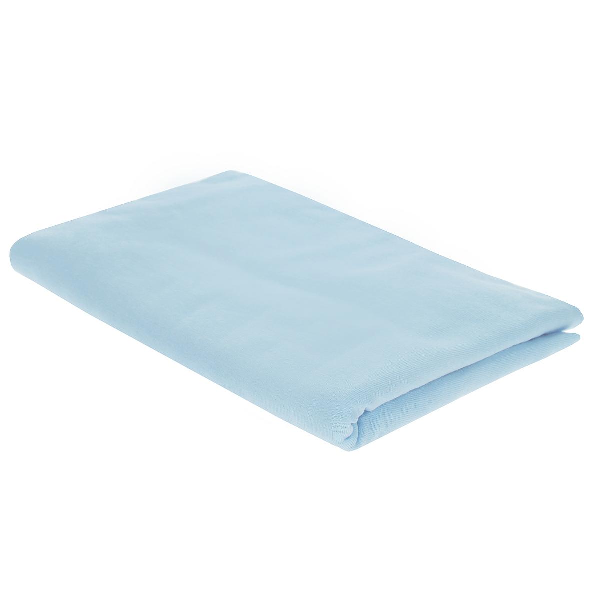 Пеленка трикотажная Трон-Плюс, цвет: голубой, 120 см х 90 см5401 гДетская пеленка Трон-Плюс подходит для пеленания ребенка с самого рождения. Она невероятно мягкая и нежная на ощупь. Пеленка выполнена из кулирки - тонкого трикотажного материала из хлопка гладкого покроя. Такая ткань прекрасно дышит, она гипоаллергенна, почти не мнется и не теряет формы после стирки. Мягкая ткань укутывает малыша с необычайной нежностью. Пеленку также можно использовать как легкое одеяло в жаркую погоду, простынку, полотенце после купания, накидку для кормления грудью или солнцезащитный козырек. Ее размер подходит для пеленания даже крупного малыша.