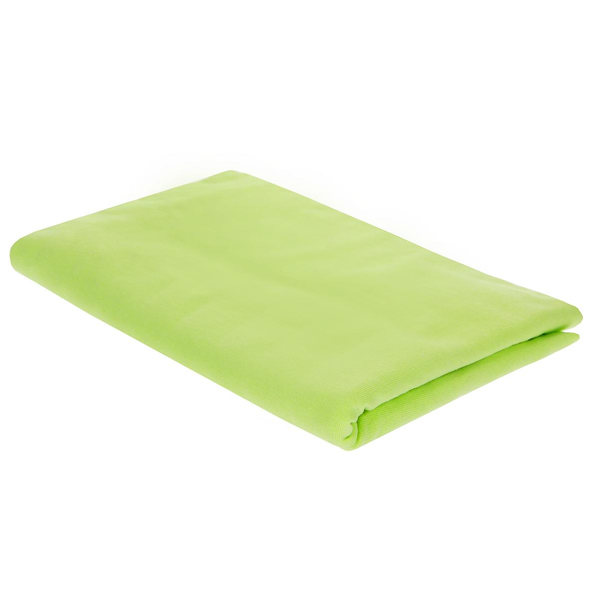 Пеленка трикотажная Трон-Плюс, цвет: салатовый, 120 см х 90 см5401 сДетская пеленка Трон-Плюс подходит для пеленания ребенка с самого рождения. Она невероятно мягкая и нежная на ощупь. Пеленка выполнена из кулирки - тонкого трикотажного материала из хлопка гладкого покроя. Такая ткань прекрасно дышит, она гипоаллергенна, почти не мнется и не теряет формы после стирки. Мягкая ткань укутывает малыша с необычайной нежностью. Пеленку также можно использовать как легкое одеяло в жаркую погоду, простынку, полотенце после купания, накидку для кормления грудью или солнцезащитный козырек. Ее размер подходит для пеленания даже крупного малыша. Характеристики: Размер пеленки: 120 см x 90 см.
