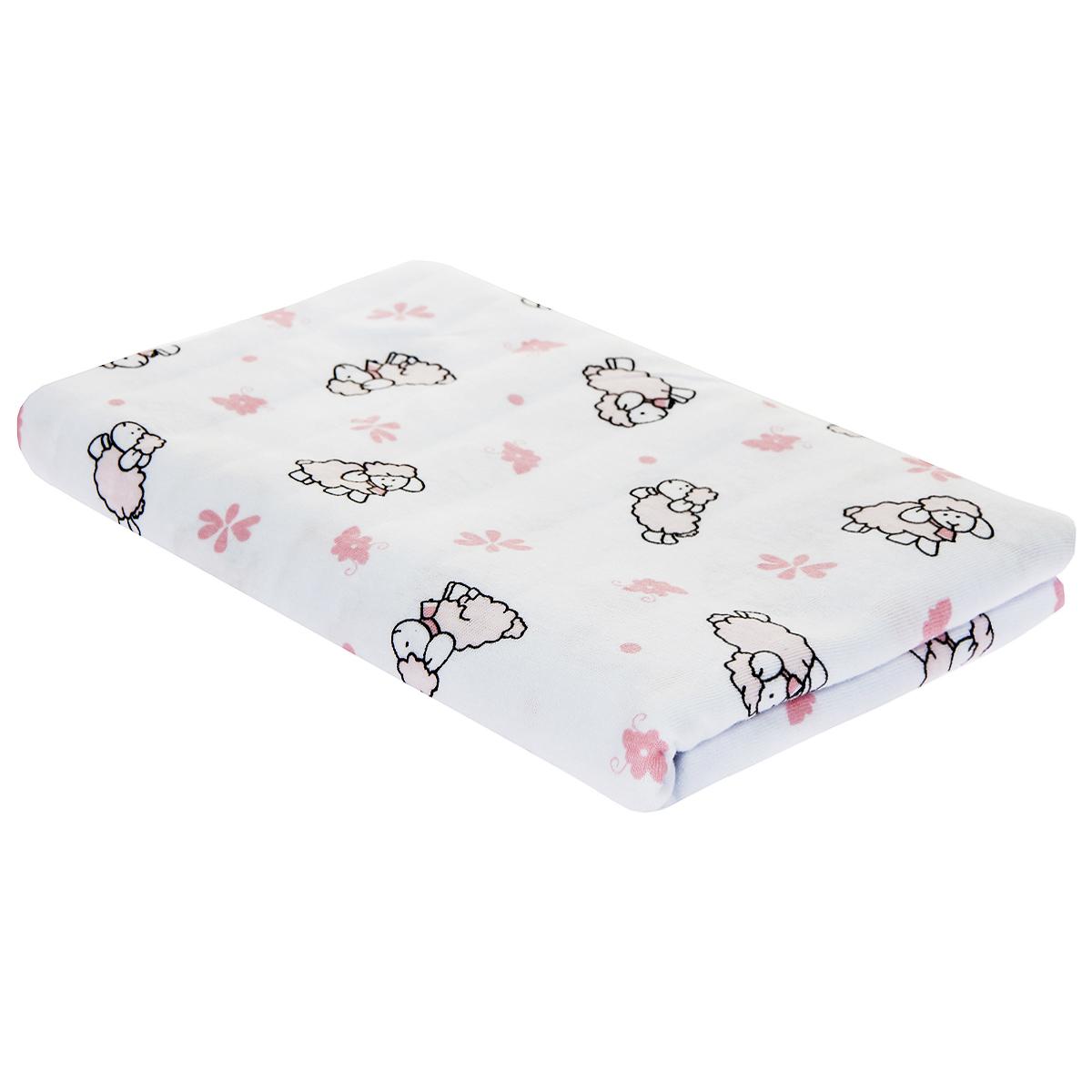 Пеленка детская Трон-Плюс, цвет: белый с розовыми коровками, 120 см х 90 см5411 роз корДетская пеленка Трон-Плюс подходит для пеленания ребенка с самого рождения. Она невероятно мягкая и нежная на ощупь. Пеленка выполнена из футера - хлопчатобумажной ткани с небольшим начесом с изнаночной стороны. Такая ткань прекрасно дышит, она гипоаллергенна, обладает повышенными теплоизоляционными свойствами и не теряет формы после стирки. Мягкая ткань укутывает малыша с необычайной нежностью. Пеленку также можно использовать как легкое одеяло в теплую погоду, простынку, полотенце после купания, накидку для кормления грудью или как согревающий компресс при коликах. Пеленочка белого цвета оформлена изображениями розовых облаков и коровок. Ее размер подходит для пеленания даже крупного малыша. Характеристики: Размер пеленки: 120 см x 90 см.