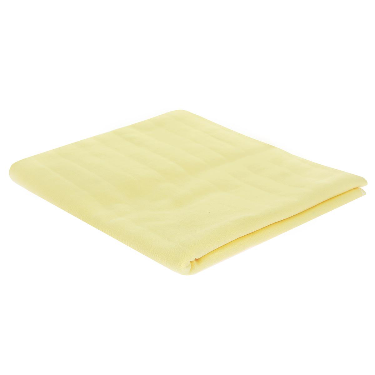 Пеленка детская Трон-Плюс, цвет: желтый, 120 см х 90 см5411 жДетская пеленка Трон-Плюс подходит для пеленания ребенка с самого рождения. Она невероятно мягкая и нежная на ощупь. Пеленка выполнена из футера - хлопчатобумажной ткани с небольшим начесом с изнаночной стороны. Такая ткань прекрасно дышит, она гипоаллергенна, обладает повышенными теплоизоляционными свойствами и не теряет формы после стирки. Мягкая ткань укутывает малыша с необычайной нежностью. Пеленку также можно использовать как легкое одеяло в теплую погоду, простынку, полотенце после купания, накидку для кормления грудью или как согревающий компресс при коликах. Ее размер подходит для пеленания даже крупного малыша. Характеристики: Размер пеленки: 120 см x 90 см.