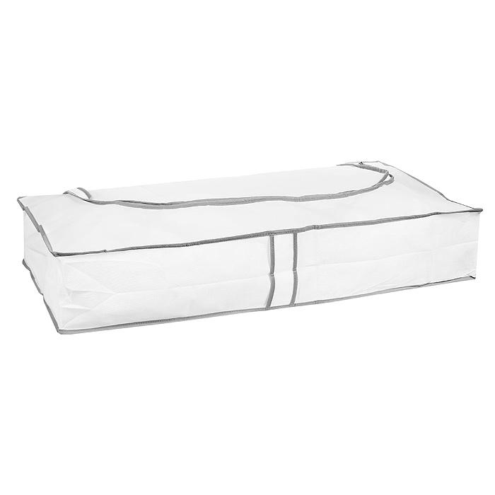 Кофр подкроватный Hausmann, цвет: белый, 80 х 40 х 15 см2B-28040Подкроватный кофр Hausmann, выполненный из вискозы, прекрасно подходит для хранения белья, подушек, одеял, пледов, сезонной одежды. Он защитит ваши вещи от пыли и грязи, а прозрачная вставка позволит видеть содержимое кофра. Закрывается на молнию. Легко чистится при помощи влажной ткани.