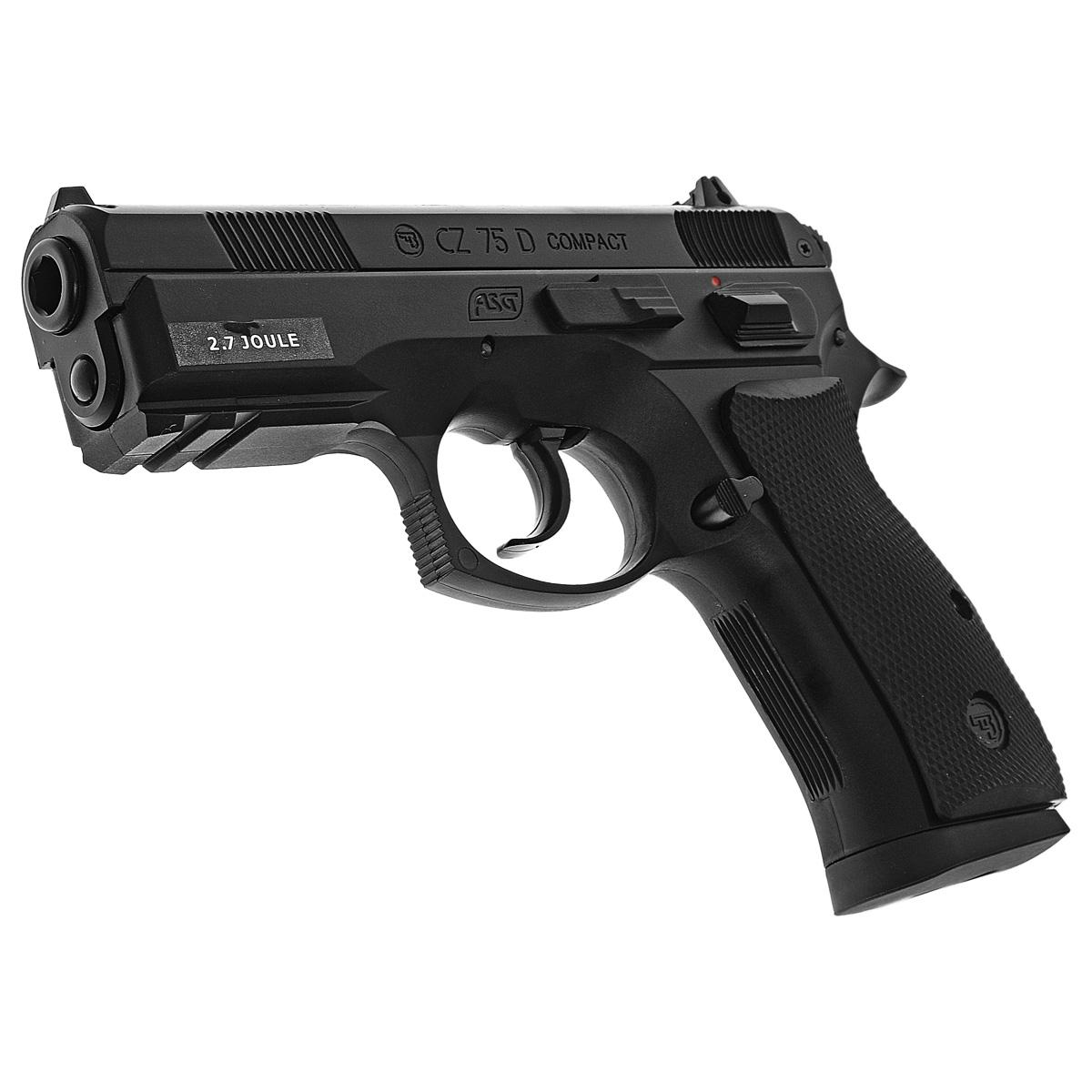 """ASG ASG """"CZ 75D Сompact"""" пистолет пневматический CO2, 4,5 мм, цвет: Black (16086)"""
