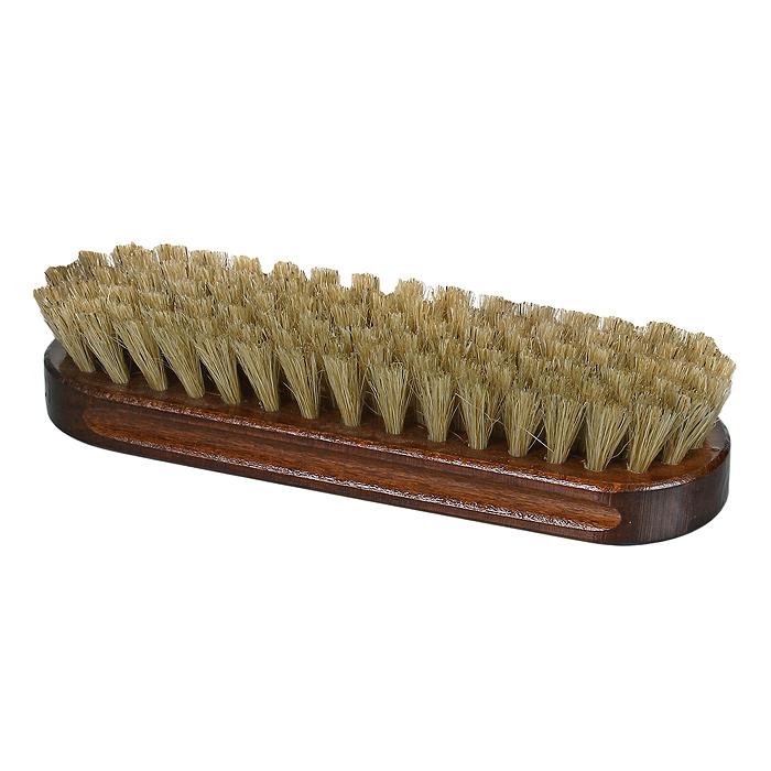 Щетка для обуви Style StandardTW03-C0026Щетка для обуви Style Standard выполнена из дерева и натурального ворса. Она предназначена для нанесения крема или последующей финальной полировки обуви. Густой натуральный частый ворс обеспечивает легкое и равномерное нанесение крема на поверхность кожи, а также отличную полировку. Деревянная ручка изготовлена из бука и покрыта специальным лаком, что исключает впитывание грязи в колодку щетки.