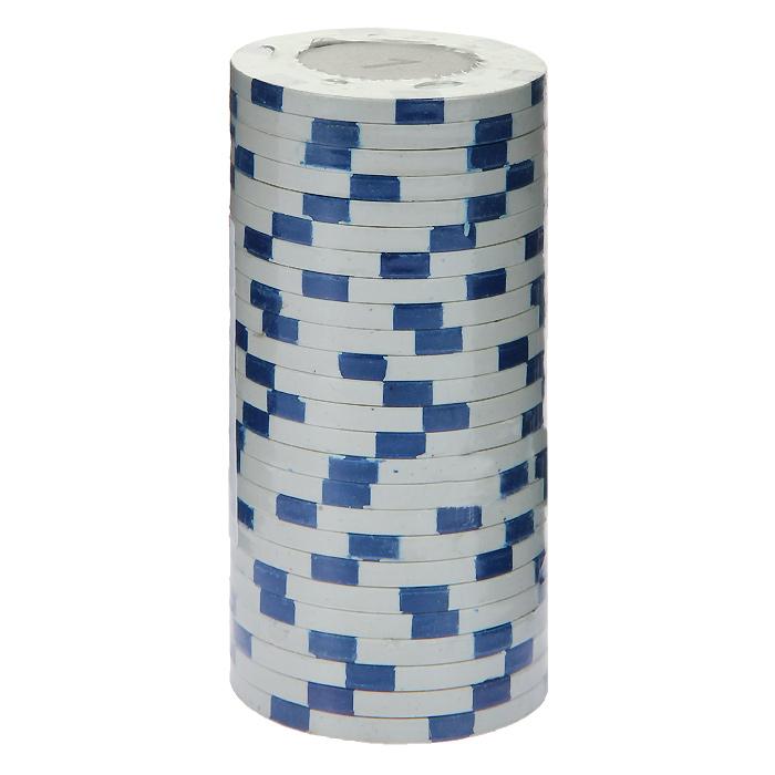 Фишки для покера с номиналом 1, цвет: белый, 25 штMA01Фишки для покера с номиналом 1 выполнены из пластика белого цвета. В наборе - 25 штук. Такие фишки прекрасно подойдут для игры в покер.