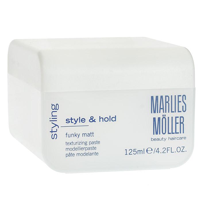 Marlies Moller Паста Styling для укладки волос, матовая, 125 мл25802MMsУльтраматовая паста Styling для укладки без границ и создания ярких образов. Применение : распределите между пальцами рук небольшое количество средства. Для того, чтобы придать укладке желаемую форму и матовый эффект, наносите пасту на сухие или подсушенные полотенцем волосы. Характеристики: Объем: 125 мл. Артикул: 25802MMs. Производитель: Швейцария. Товар сертифицирован.