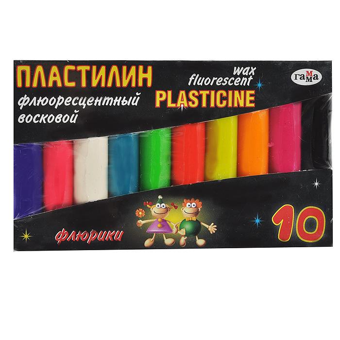 Пластилин восковой Флюрики, флюоресцентный, 10 цветов281036Цветной восковой пластилин Флюрики, предназначенный для лепки и моделирования, поможет ребенку развить творческие способности, воображение и мелкую моторику рук. Пластилин обладает отличными пластичными свойствами, быстро размягчается, хорошо держит форму и не липнет к рукам. Легко отмывается с рук и отстирывается от одежды. Пластилин нетоксичен, безопасен для здоровья. В наборе пластилин десяти флюоресцентных цветов: темно-фиолетового, красного, белого, темно-бирюзового, салатового, кораллового, желтого, оранжевого, лилового и черного.