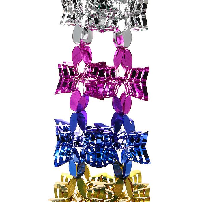 Новогодняя мишура Magic Time, цвет: мульти, 2 м. 2699326993Новогодняя мишура «Magic Time» прекрасно подойдет для декора дома и праздничной ели. Украшение выполнено из разноцветной металлизированной фольги. Его можно повесить в любом понравившемся вам месте. Легко складывается и раскладывается. Новогодние украшения несут в себе волшебство и красоту праздника. Они помогут вам украсить дом к предстоящим праздникам и оживить интерьер по вашему вкусу. Создайте в доме атмосферу тепла, веселья и радости, украшая его всей семьей. Коллекция декоративных украшений из серии Magic Time принесет в ваш дом ни с чем несравнимое ощущение волшебства!