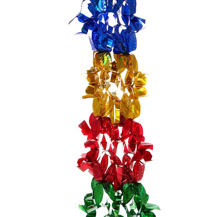 Новогодняя гирлянда Magic Time, цвет: мульти, 2,5 м. 3097630976Новогодняя гирлянда «Magic Time» прекрасно подойдет для декора дома или офиса. Украшение выполнено из разноцветной металлизированной фольги. С помощью специальных петелек его можно повесить в любом понравившемся вам месте. Легко складывается и раскладывается. Новогодние украшения несут в себе волшебство и красоту праздника. Они помогут вам украсить дом к предстоящим праздникам и оживить интерьер по вашему вкусу. Создайте в доме атмосферу тепла, веселья и радости, украшая его всей семьей. Коллекция декоративных украшений из серии Magic Time принесет в ваш дом ни с чем несравнимое ощущение волшебства! Характеристики: Материал: металлизированная фольга (ПВХ). Цвет: мульти. Длина гирлянды: 2,5 м. Размер гирлянды (в собранном виде): 23 см х 23 см. Размер упаковки: 27 см х 24 см х 1 см. Артикул: 30976.