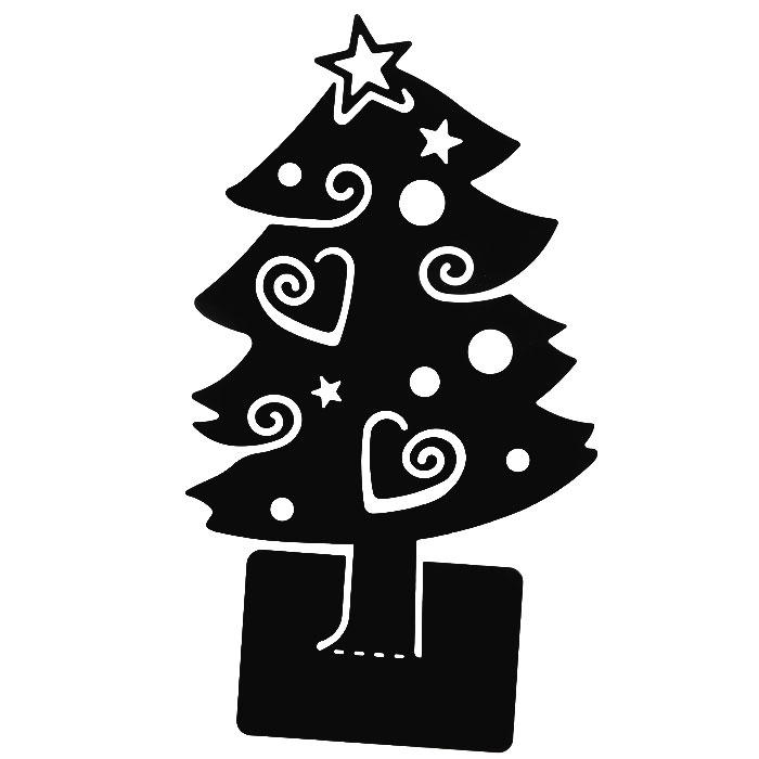 Держатель для записок и визиток Елка. L4818L4818Оригинальная металлическая елка черного цвета отлично подойдет для дома и офиса. Символ нового года является удобным держателем для записок. Нужно согнуть подставку елки (поставляется в плоском виде). Записки и визитки будут держаться за счет декоративных прорезей елки, также изделие можно украсить магнитиками и напоминалками. В комплекте: подарочная открытка серого цвета с надписью С Новым годом!.