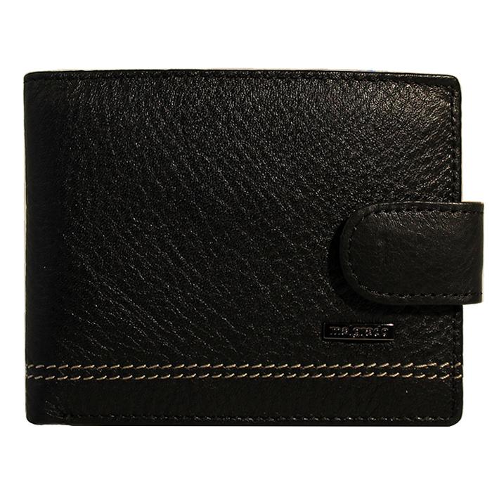 Портмоне Malgrado, цвет: черный. 32001-9-239А32001-9-239А BlackУниверсальное портмоне Malgrado изготовлено из натуральной кожи черного цвета. Внутри содержит два отделения для купюр, шесть дополнительных кармашков для кредитных карт и мелочей, два потайных кармашка. Закрывается портмоне хлястиком на кнопке. Благодаря насыщенному черному цвету и лаконичному дизайну, такое портмоне подойдет любителям классических аксессуаров.