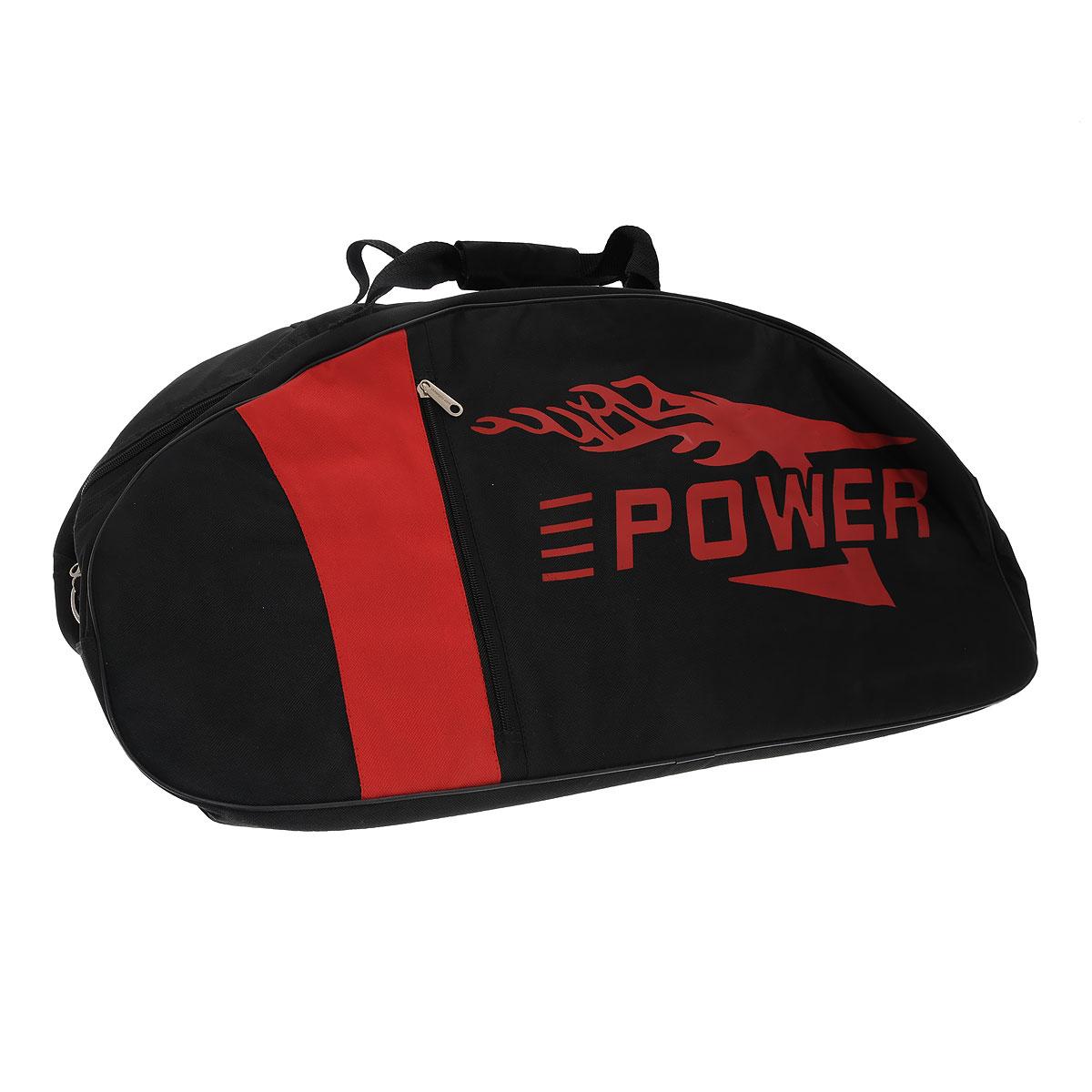 Сумка-чехол для детских джамперов Power, цвет: черный, красныйCarry bag JrСумка-чехол для детских джамперов Power - это вместительная сумка, в которой удобно переносить джамперы, комплект защиты и спортивную одежду для тренировок. Сумка выполнена из прочного материала черного и оранжевого цветов, содержит одно отделение и закрывается на застежку-молнию с двумя бегунками. Стенки сумки уплотнены, что поможет избежать повреждения оборудования при возможных ударах. С двух сторон на сумке расположены вертикальные прорезные карманы на застежках-молниях. Сумка оснащена двумя ручками для переноски и съемным плечевым ремнем, регулирующимся по длине.