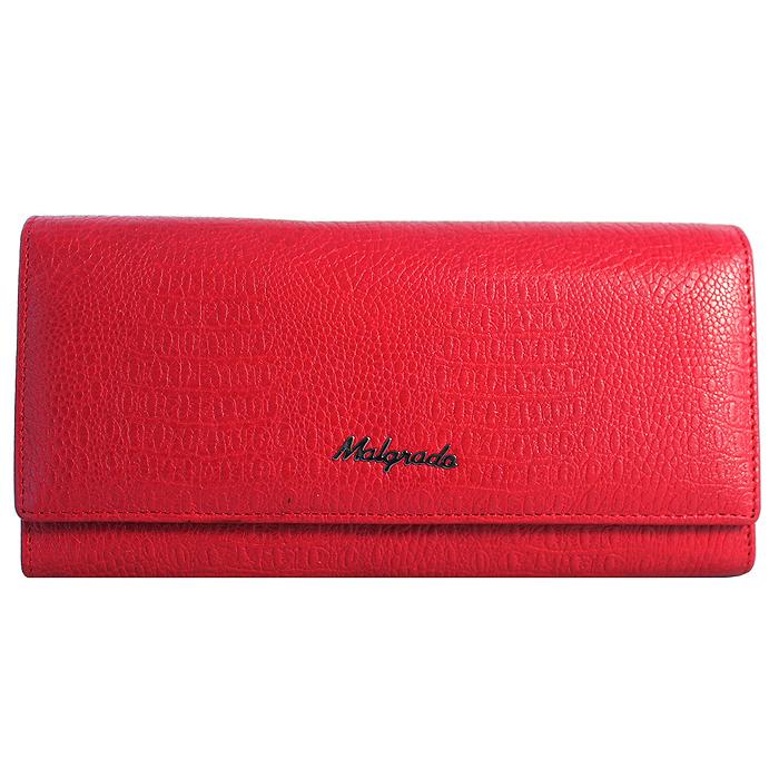Кошелек Malgrado, цвет: красный. 72032-3-8203D72032-3-8203D RedСтильный кошелек Malgrado выполнен из натуральной кожи красного цвета с декоративным тиснением под рептилию, застегивается клапаном на кнопку. Внутри содержит один горизонтальный карман для бумаг, девять кармашков для кредитных карт, отделение на замке-защелке для мелочи и четыре отделения для купюр, одно из которых на молнии. Кошелек упакован в подарочную металлическую коробку с логотипом фирмы. Такой кошелек станет замечательным подарком человеку, ценящему качественные и практичные вещи.
