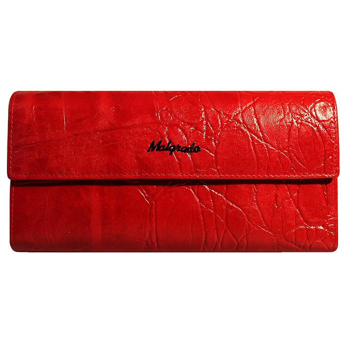 Кошелек женский Malgrado, цвет: красный. 72044-1-29102#72044-1-29102# RedСтильный кошелек Malgrado изготовлен из натуральной кожи красного цвета с декоративным тиснением и вмещает в себя купюры в развернутом виде в полную длину. Внутри содержит пять основных отделений, одно из которых закрывается на кнопку, внутри расположено десять кармашков для карточек, визиток или кредиток и одно с прозрачным окошком, одно горизонтальное отделение и еще одно отделение на защелке для мелочи. С оборотной стороны расположен карман на молнии. Закрывается кошелек клапаном на кнопку. Кошелек упакован в подарочную металлическую коробку с логотипом фирмы. Такой кошелек станет замечательным подарком человеку, ценящему качественные и практичные вещи.