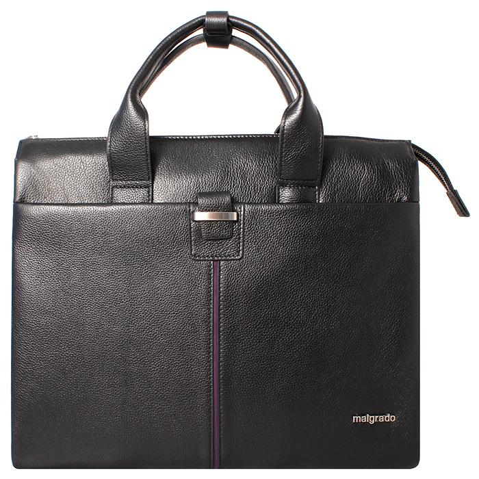 Сумка мужская Malgrado, цвет: черный. BR38-88С2458BR38-88С2458 blackОригинальная мужская сумка Malgrado из натуральной кожи черного цвета. Сумка с двумя ручками на молнии. Внутри одно большое отделение, разделенное смежным карманом на молнии, вшитый карман на молнии, открытый кармашек для телефона и два кармашка для пишущих принадлежностей. Также на внешней стороне расположен открытый карман, который закрывается на хлястик. Прилагается съемный плечевой текстильный ремень.