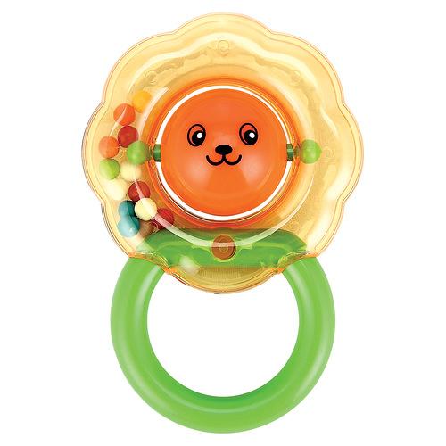 Игрушка-погремушка Happy baby Львенок330306Игрушка-погремушка Львенок не оставит вашего малыша равнодушным и не позволит ему скучать! Игрушка выполнена в виде головы львенка, представляющей собой шарик, наполненный бусинами. Яркие цвета игрушки и различные типы материала направлены на развитие мыслительной деятельности, цветовосприятия, тактильных ощущений и мелкой моторики рук ребенка, а элемент погремушки способствует развитию слуха.