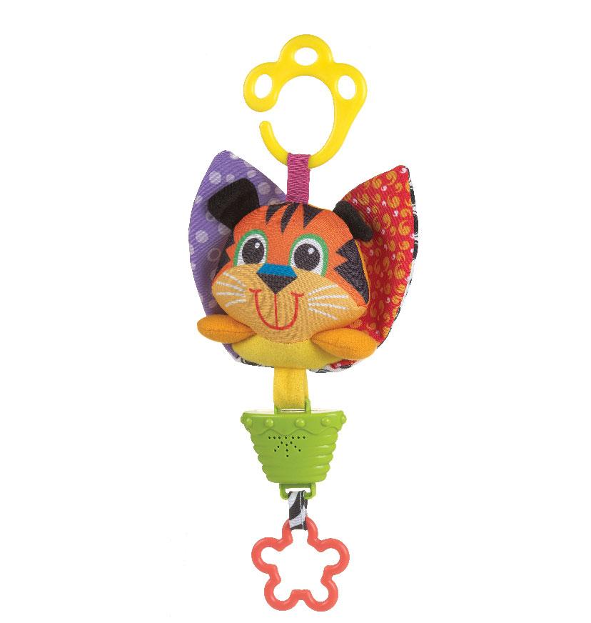 Музыкальная игрушка-подвеска Playgro Тигр0183299Музыкальная игрушка-подвеска в виде тигренка, выполненая из разных текстильных материалов легко крепится к коляске, кроватке или переноске. Приятная мелодия успокоит малыша, будет способствовать развитию слуха. Прорезыватель - звёздочка, поможет ребёнку снять зуд с дёсен в период прорезывания зубок. Музыкальная игрушка-подвеска поможет ребенку развить мелкую моторику рук, зрительное и слуховое восприятие, тактильные ощущения. Характеристики: Размер игрушки: 22 см х 15 см х 4 см. Диаметр прорезывателя: 5,5 см.