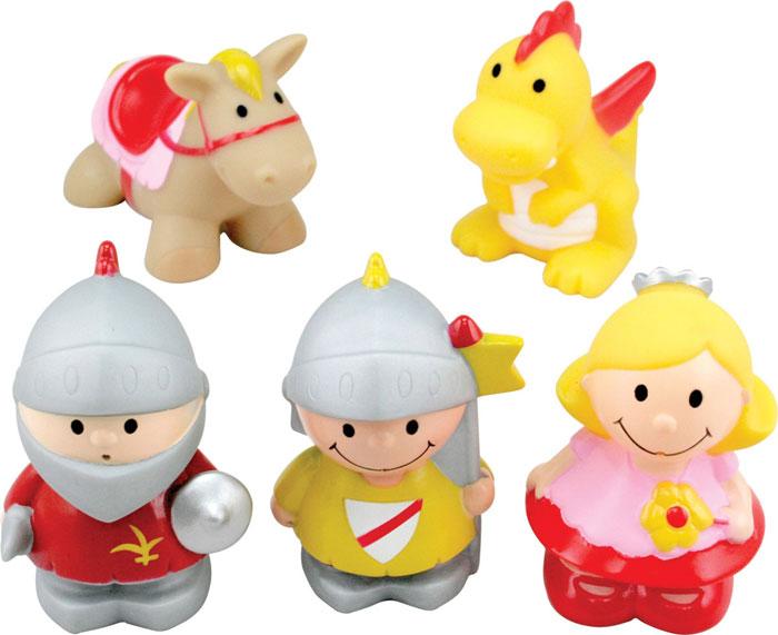 Набор игрушек для ванны Курносики Волшебная сказка, 5 шт25109Набор игрушек для ванны Курносики Волшебная сказка непременно понравится вашему ребенку и превратит купание в веселую игру! В набор входят пять игрушек, выполненные из ПВХ ярких цветов в виде забавных персонажей, встречающихся во многих сказках: дракончика, лошадки, двух богатырей и принцессы. Если сжать их во время купания в ванне, они начинают забавно брызгаться водой. Набор игрушек для ванны Курносики Волшебная сказка способствует развитию у ребенка воображения, цветового восприятия, тактильных ощущений и мелкой моторики рук. Оригинальный стиль и великолепное качество исполнения делают этот набор чудесным подарком к любому празднику, а жизнерадостные образы представят его в самом лучшем свете. Характеристики: Рекомендуемый возраст: от 6 месяцев. Средняя высота игрушек: 8 см. Изготовитель: Китай.