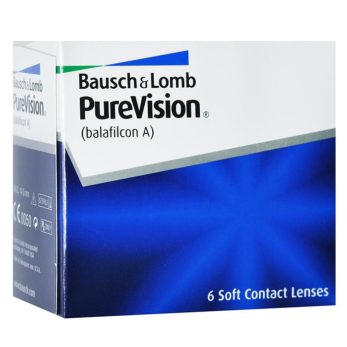 Bausch + Lomb контактные линзы PureVision (6шт / 8.6 / -4.50)07454Контактные линзы Pure Vision - это революционная разработка компании Bausch+Lomb! Использование новейших технологий дает возможность носить эту модель на протяжении месяца, не снимая. Ваши глаза не будут подвержены раздражению благодаря очень высокой кислородопроницаемости линз и особой конструкции линзы. Вам больше не придется надевать контактные линзы каждое утро, а вечером снимать их. Стоит лишь раз надеть линзы и заменить их новой парой через 30 дней. Технология AerGel используемая в Pure Vision, обеспечивает естественный уровень поступления кислорода к роговице глаза. Это достигается за счет соединения силикона и уникального гидрогеля. Технология обработки поверхности Performa делает контактные линзы постоянно увлажненными, повышает устойчивость к отложениям, делает зрение пациента максимально острым. Революционная конструкция линз Pure Vision позволяет улучшить подвижность, делает линзы очень тонкими и гладкими. Контактные линзы имеют подкраску для простоты...