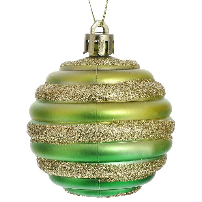 Набор новогодних подвесных украшений Шар, 6 шт. 3230732307В набор входят шесть пластиковых елочных игрушек одинакового размера в виде рельефного шара золотисто-зеленого цвета. Все шары декорированы золотистыми блестками. С помощью специальной петельки украшения можно повесить в любом понравившемся вам месте. Но, конечно, удачнее всего такие игрушки будут смотреться на праздничной елке. Оригинальный дизайн и красочное исполнение изделий создадут праздничное настроение. Новогодние украшения всегда несут в себе волшебство и красоту праздника. Создайте в своем доме атмосферу тепла, веселья и радости, украшая его всей семьей.
