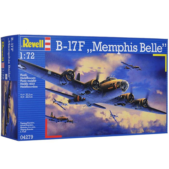 Сборная модель Revell Самолет B-17F Memphis Belle04279RСборная модель Revell Самолет B-17F Memphis Belle поможет вам и вашему ребенку придумать увлекательное занятие на долгое время. Набор включает в себя 235 пластиковых элементов, с помощью которых можно собрать достоверную уменьшенную копию американского самолета. Также в наборе схематичная инструкция по сборке. Процесс сборки развивает интеллектуальные и инструментальные способности, воображение и конструктивное мышление, а также прививает практические навыки работы со схемами и чертежами.