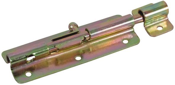 Шпингалет накладной Fit, желтый цинк, 12 см ( 66674 )