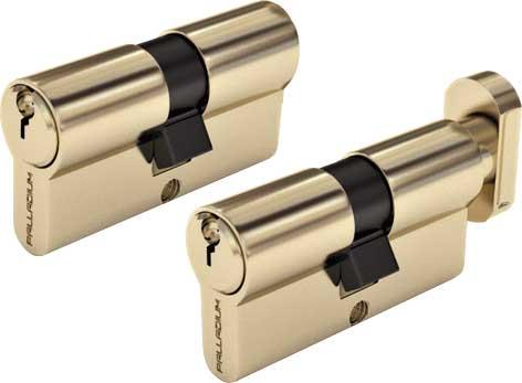 Цилиндровый механизм Palladium Sarento, ключ-ключ, цвет: золотой, 60 мм