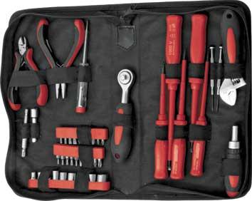 Набор инструментов FIT, 45 предметов. 6514065140Набор слесарно-монтажных инструментов FIT - это необходимый предмет в каждом доме. Он включает в себя 45 предметов, которые умещаются в небольшом футляре. Инструменты, входящие в набор гарантируют надежность и длительный срок службы. Такой набор будет идеальным подарком мужчине. В состав набора входит: Отвертки 1000 В с изолированным хром-ванадиевым жалом и пластиковой ручкой: плоские - 5,5 мм х 125 мм, 4 мм х 100 мм, 3 мм х 100 мм; крестовые - PH1 х 80 мм, PH2 х 100 мм; Отвертка индикаторная (длина 14 см); Отвертки часовые 2 шт; Отвертка реверсивная (длина 10,5 см); Вороток-трещотка; Ключ разводной (шкала 20 мм, длина 14 см); Адаптер для головок (длина 25 мм); Удлинитель для бит (длина 6 см); Удлинитель для головок (длина 5 см); Пасатижи Мини (длина 12,5 см); Бокорезы Мини (длина 11,5 см); Головки торцевые: 5 мм, 6 мм, 7 мм, 8 мм, 9 мм, 10 мм, 11 мм, 12 мм, 13 мм; Биты плоские: SL3, SL4, SL5, SL6; ...