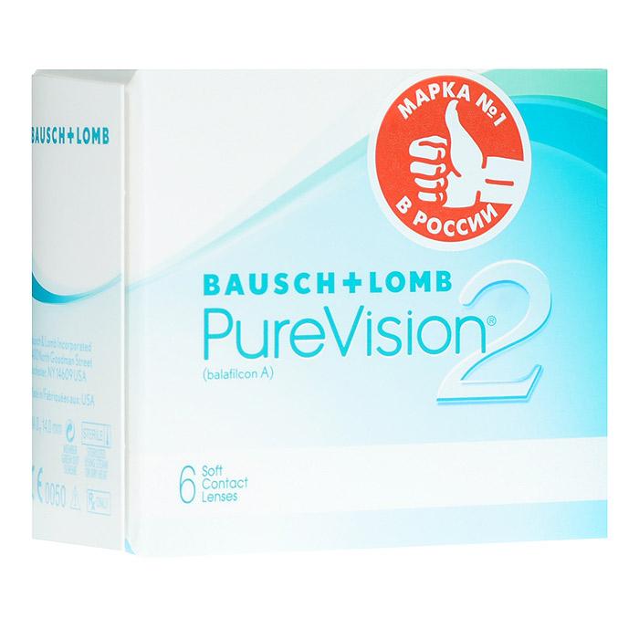 Bausch + Lomb контактные линзы Pure Vision 2 (6шт / 8.6 / - 1.25)