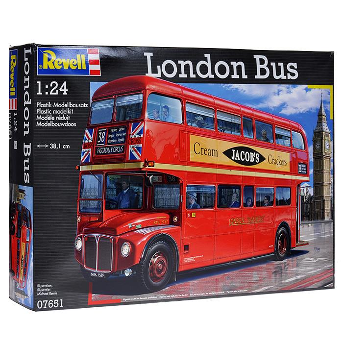 Сборная модель Revell Лондонский автобус07651RСборная модель Revell Лондонский автобус поможет вам и вашему ребенку придумать увлекательное занятие на долгое время. Набор включает в себя 391 пластиковый элемент, из которых можно собрать достоверную уменьшенную копию лондонского двухэтажного автобуса. Также в наборе схематичная инструкция по сборке. Процесс сборки развивает интеллектуальные и инструментальные способности, воображение и конструктивное мышление, а также прививает практические навыки работы со схемами и чертежами.