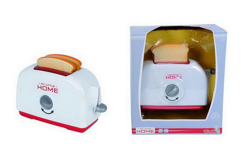 Simba Игровой набор Тостер4730077Детский тостер, выполненный из пластика, непременно понравится вашему ребенку и займет достойное место на детской кухне. Два аппетитных тоста выскакивают из тостера, словно из настоящего. Также тостер снабжен переключателем. Теперь Ваша маленькая хозяйка может готовить вкусные тосты для своих любимых кукол!