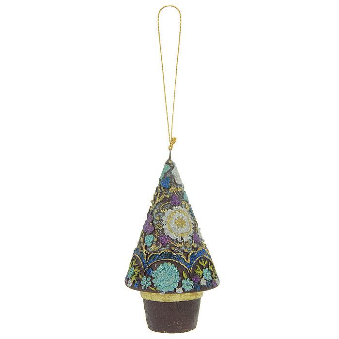 Новогоднее подвесное украшение Елка, цвет: синий, сиреневый. 2541825418Оригинальное новогоднее украшение выполнено из пластика в виде новогодней елки, украшенной блестками. С помощью специальной петельки украшение можно повесить в любом понравившемся вам месте. Но, конечно же, удачнее всего такая игрушка будет смотреться на праздничной елке. Новогодние украшения приносят в дом волшебство и ощущение праздника. Создайте в своем доме атмосферу веселья и радости, украшая всей семьей новогоднюю елку нарядными игрушками, которые будут из года в год накапливать теплоту воспоминаний. Коллекция декоративных украшений из серии Magic Time принесет в ваш дом ни с чем несравнимое ощущение волшебства! Характеристики: Материал: пластик, текстиль. Цвет: синий, сиреневый. Размер украшения: 5,5 см х 5,5 см х 10,5 см. Артикул: 25418.