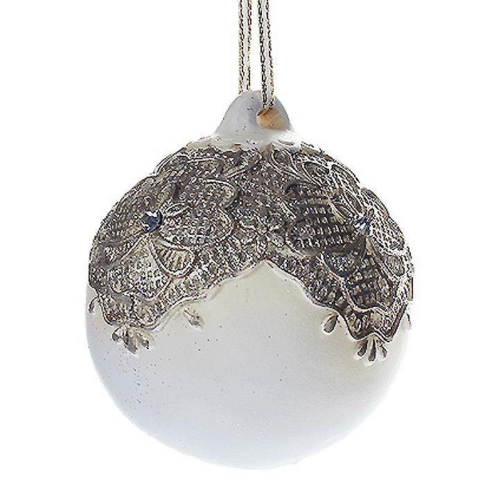 Новогоднее подвесное украшение Шар. 2596725967Изящное новогоднее украшение выполнено из полирезины в виде шара, украшенного блестками и стразами. С помощью специальной петельки украшение можно повесить в любом понравившемся вам месте. Но, конечно, удачнее всего такая игрушка будет смотреться на праздничной елке. Новогодние украшения приносят в дом волшебство и ощущение праздника. Создайте в своем доме атмосферу веселья и радости, украшая всей семьей новогоднюю елку нарядными игрушками, которые будут из года в год накапливать теплоту воспоминаний. Коллекция декоративных украшений из серии Magic Time принесет в ваш дом ни с чем несравнимое ощущение волшебства!