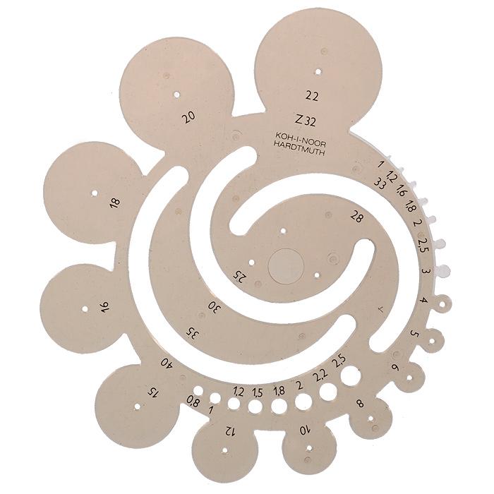 Шаблон геометрических радиусов Koh-i-Noor, цвет: дымчатый749002Шаблон геометрических радиусов Koh-i-Noor будет полезен для геометрических построений. Он выполнен из прозрачного пластика дымчатого цвета. На линейки представлены шаблоны для окружностей радиусом от 1 мм до 40 мм. Характеристики: Размер шаблона: 16 см х 14,5 см.