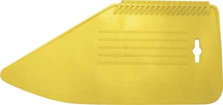 Шпатель прижимной пластиковый Fit, цвет: желтый, 28 см06900Гибкий пластиковый шпатель. Для прижимания и разглаживания обоев в процессе наклейки. Изготовлен из пластика.