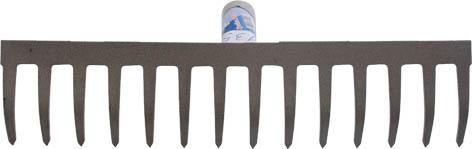 Грабли с прямыми зубьями Калита, без черенка, 16 зубьев, 8,5 см х 42 см76955Грабли с прямыми зубьями Калита используются, как правило, для сбора опавшей листвы, скошенной травы, а также для уборки мусора. Изготовлены из качественной стали. Поставляются без черенка.