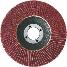 Диск наждачный FIT, лепестковый, 125 мм, Р10039555Диск наждачный FIT, лепестковый используется в шлифовальных машинах для обработки металла и нержавеющей стали. Диск имеет наклонную форму, которая хорошо подходит для шлифования неровных поверхностей. Основание оснастки из стекловолокна, а абразив из аксида алюминия, таким образом, шлифование получается очень качественным.