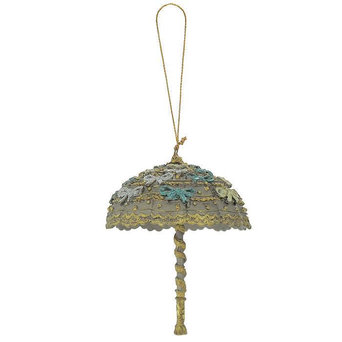Новогоднее подвесное украшение Зонтик. 2544525445Новогоднее подвесное украшение, выполненное из пластика в виде зонтика с блестками, украсит интерьер вашего дома или офиса в преддверии Нового года. С помощью специальной петельки украшение можно повесить в любом понравившемся вам месте. Но, конечно, удачнее всего такая игрушка будет смотреться на праздничной елке. Оригинальный дизайн и красочность исполнение создадут праздничное настроение. Новогодние украшения всегда несут в себе волшебство и красоту праздника. Создайте в своем доме атмосферу тепла, веселья и радости, украшая его всей семьей.