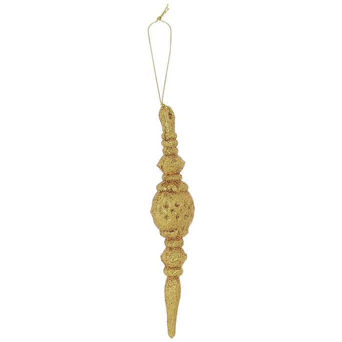 Подвесное украшение Орнамент, цвет: золотистый26046Легкое, прочное и красивое подвесное украшение Орнамент, выполненное из пластика и покрытое мелкими золотыми блестками, дополнит любой интерьер. Его можно подвесить на шторы, тюль, люстру или использовать как елочную игрушку. Создайте праздничное настроение своим близким! Характеристики: Материал: пластик, блестки. Размер украшения: 4 см х 16 см х 2 см. Размер упаковки: 22,5 см х 15,5 см х 2 см. Изготовитель: Китай. Артикул: 26046.