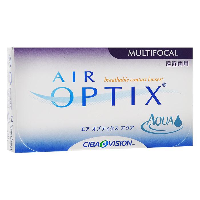 Alcon-CIBA Vision контактные линзы Air Optix Aqua Multifocal (3шт / 8.6 / 14.2 / +3.50 / High)31122Контактные линзы Air Optix Aqua Multifocal предназначены для коррекции возрастной дальнозоркости. Если для работы вблизи или просто для чтения вам необходимо использовать очки, то эти линзы помогут вам избавиться от них. В линзах Air Optix Aqua Multifocal вы будете одинаково четко видеть как предметы, расположенные вблизи, так и удаленные предметы. Линзы изготовлены из силикон-гидрогелевого материала лотрафилкон Б, который пропускает в 5 раз больше кислорода по сравнению с обычными гидрогелевыми линзами. Они настолько комфортны и безопасны в ношении, что вы можете не снимать их до 6 суток. Но даже если вы не собираетесь окончательно сменить очки на линзы, мы рекомендуем вам иметь хотя бы одну пару таких линз для экстремальных ситуаций, например для занятий спортом. Контактные линзы Air Optix Aqua Multifocal имеют три степени аддидации: Low (низкую) до +1.00; Medium (среднюю) от +1.25 до +2.00 и High (высокую) свыше +2.00.