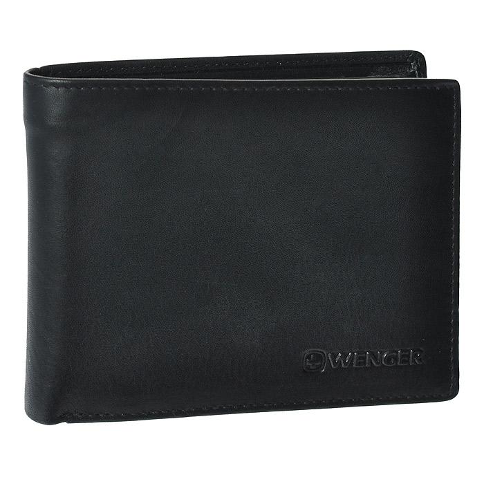 Портмоне Wenger, цвет: черный. WEW053.11WEW053.11Портмоне Wenger выполнено из натуральной кожи черного цвета. Внутри находятся два отделения для купюр, шесть отделений для кредитных карт, визиток и прочих мелких бумаг, одно сетчатое отделение для документов, одно отделение на кнопке для мелочи, два потайных кармана. Это классическое портмоне непременно подойдет к вашему образу и порадует простотой и стилем. Портмоне упаковано в коробку из плотного картона с логотипом фирмы. По всем вопросам гарантийного и постгарантийного обслуживания рюкзаков, чемоданов, спортивных и кожаных сумок, а также портмоне марок Wenger и SwissGear вы можете обратиться в сервис-центр, расположенный по адресу: г. Москва, Саввинская набережная, д.3. Тел: (495) 788-39-96, (499) 248-56-56, ежедневно с 9:00 до 21:00. Подробные условия гарантийного обслуживания приведены в гарантийном талоне, поставляемым в комплекте с каждым изделием. Бесплатный ремонт изделий производится при условии предоставления гарантийного талона и...