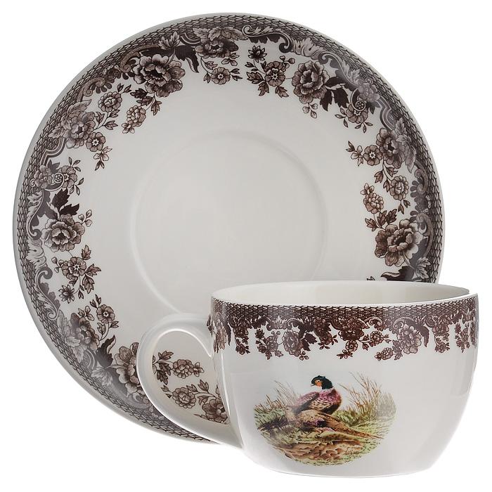 Чайная пара Lillo, 2 предмета. 213464213464Чайная пара Lillo состоит из блюдца и чашки, выполненных из высококачественой керамики. Чашка и блюдце кремового цвета оформлены коричневой цветочной каймой, чашка украшена рисунком павлинов. Данный набор сочетает в себе изысканный дизайн с максимальной функциональностью. Красочность оформления придется по вкусу и ценителям классики, и тем, кто предпочитает утонченность и изысканность. Характеристики: Материал: керамика. Цвет: кремовый. Диаметр чашки по верхнему краю: 11 см. Высота чашки: 7 см. Объем чашки: 450 мл. Диаметр блюдца: 18,5 см. Размеры упаковки: 9 см х 19 см х 19 см. Артикул: 213464.
