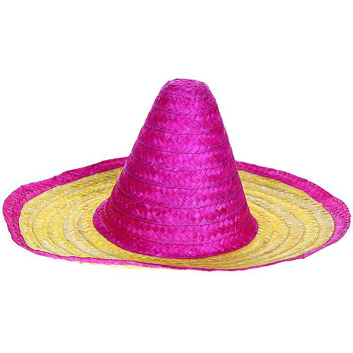 Маскарадная шляпа, цвет: лиловый, желтый. 3133131331У вас намечается веселая вечеринка или маскарад? Маскарадная шляпа внесет нотку задора и веселья в праздник и станет завершающим штрихом в создании праздничного образа. Двухцветная шляпа выполнена из окрашенного соломенного материала. Веселое настроение и масса положительных эмоций вам будут обеспечены! Характеристики: Материал: солома. Цвет: лиловый, желтый. Обхват головы: 59 см. Размер шляпы (Ш х Д х В): 48 см х 48 см х 23 см. Артикул: 31331.