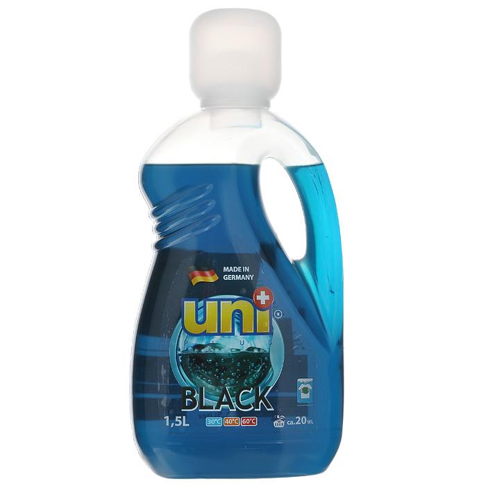 Гель для стирки UniPlus Black, 1,5 л200094Гель для стирки UniPlus Black предназначен для стирки черного и темного белья. Эффективно отстирывает при температуре от 30°C до 60°С. Специальная формула помогает сохранить форму, яркость и контрастность цветов и предотвратить линьку при стирке. Средство не содержит хлор и другие агрессивные вещества, благодаря чему не разрушается структура красок и тканей. Хорошо выполаскивается и не оказывает вредного влияния на кожу. После применения жидкого средства для стирки UNI+ ткань приобретает приятный аромат, мягкость, становится приятной на ощупь. В составе геля для стирки содержаться компоненты, которые защищают стиральную машину от образования известковых наслоений, что продлевает срок службы стиральной машины. Подходит для всех типов стиральных машин, а также для ручной стирки. В комплекте - мерной стаканчик.