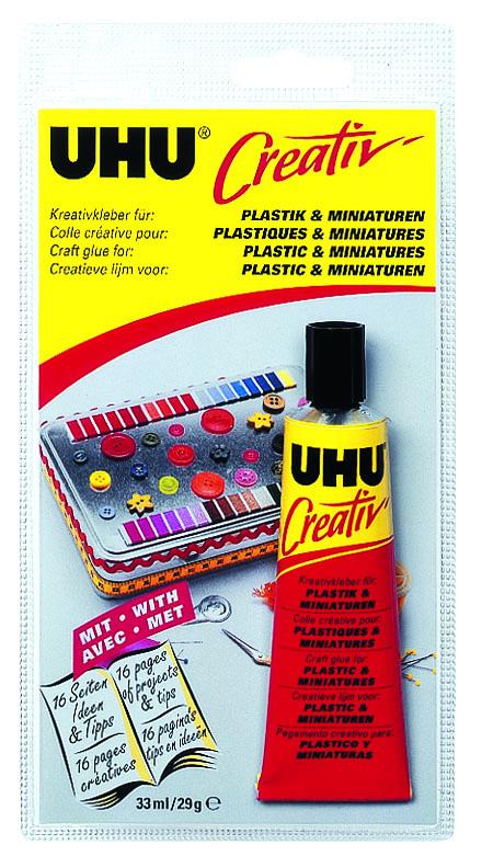 """Клей UHU """"Creativ"""" для пластмасс и художественных миниатюр, 33 мл 47330"""