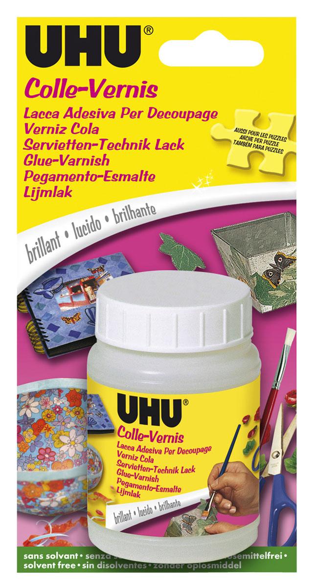 """Клей-лак UHU """"Creativ"""", для бумаги и ткани, 150 мл 47375"""