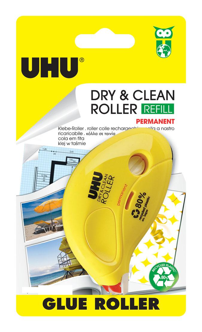 """Клеевой роллер UHU """"Dry & Clean"""", перманентный 50465"""
