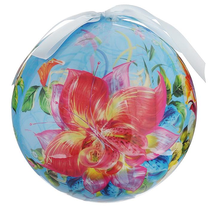 Елочное украшение Шар. Цветы, диаметр 15 см. 2032820328Оригинальное подвесное украшение Шар. Цветы прекрасно подойдет для праздничного декора дома и новогодней ели. Украшение, выполненное из пластмассы, оформлено красочным изображением цветов. Благодаря плотному корпусу изделие никогда не разобьется, поэтому вы можете быть уверены, что оно прослужит вам долгие годы. С помощью атласной ленточки голубого цвета украшение можно повесить в любое понравившееся место. Но удачнее всего оно будет смотреться на новогодней елке. Елочная игрушка - символ Нового года. Она несет в себе волшебство и красоту праздника. Создайте в своем доме атмосферу веселья и радости, украшая новогоднюю елку нарядными игрушками, которые будут из года в год накапливать теплоту воспоминаний. Характеристики: Материал: пластмасса (вспененный полистирол), текстиль. Диаметр шара: 15 см. Размер упаковки: 15 см х 15 см х 15,5 см. Производитель: Россия. Изготовитель: Китай. Артикул: 20328.