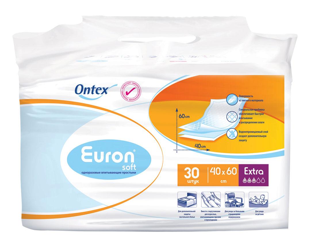Euron Простыни впитывающие Soft Extra 40х60 см 30 шт