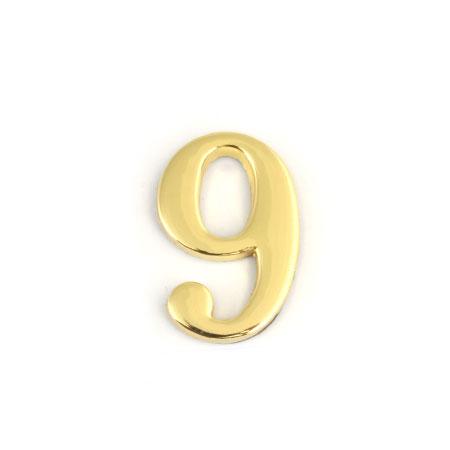 Цифра для обозначения номера квартиры 9, цвет: золотистый67299Цифра 9 для обозначения номера квартиры выполнена из золотистого металла. Устанавливается с помощью липкого слоя, нанесенного на обратную сторону изделия.